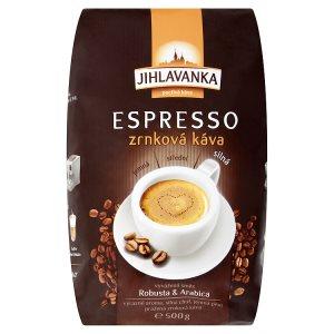 Jihlavanka Espresso Zrnková káva 500g v akci
