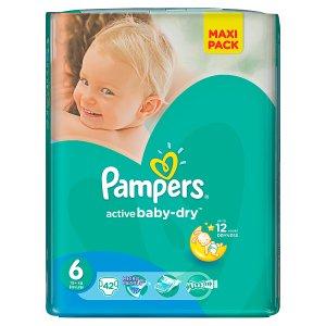 Pampers Active Baby-Dry Dětské jednorázové plenky 6 extra large 42 ks