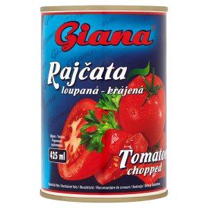 Giana Rajčata loupaná krájená 400g
