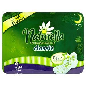 Naturella Camomile Classic night hygienické vložky s jemnou vůní 14 ks