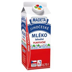 Madeta Jihočeské mléko lahodné plnotučné 0,75l
