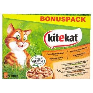 Kitekat ve šťávě kompletní krmivo pro dospělé kočky 12 x 100g, vybrané druhy