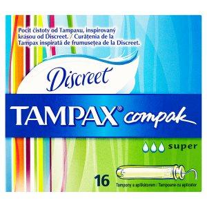 Tampax Compak Discreet tampony s aplikátorem super 16 ks
