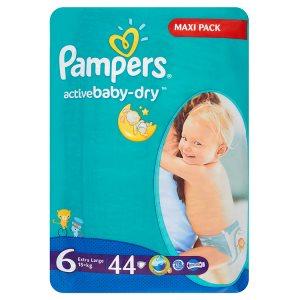 Pampers Active Baby Pleny 6 Extra Large 44 ks v akci