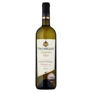 Víno Mikulov Sommelier Club Müller thurgau víno s přívlastkem kabinetní víno suché bílé 0,75l