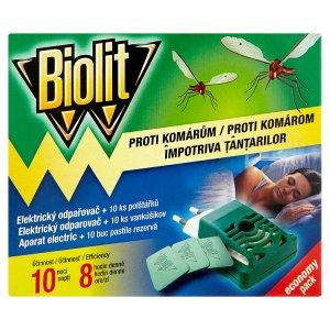 Biolit Proti komárům elektrický odpařovač + 10 ks polštářků