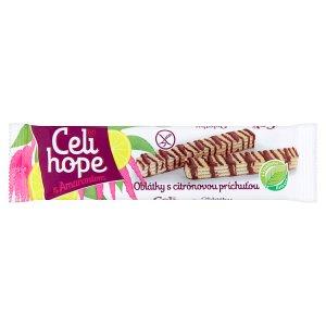 Celi Hope Oplatka s krémovou náplní s citronovou příchutí zdobené kakaovou polevou 25g