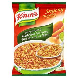 Knorr Snacky noodles, vybrané druhy