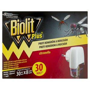 Biolit Plus Elektrický odpařovač s vůní citronelly proti komárům a mouchám 30 nocí 31ml