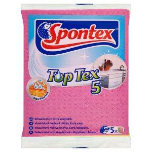 Spontex Top tex víceúčelová houbová utěrka 5 ks