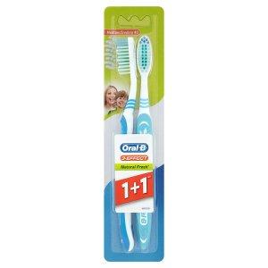Oral-B 3 Effect Natural fresh zubní kartácek 1 + 1 - střední