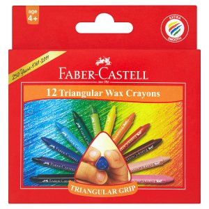 Faber-Castell Voskové pastelky 12 ks