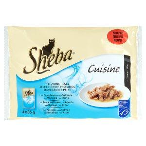 Sheba Cuisine Delikátní rybí menu ve šťávě kompletní krmivo pro dospělé kočky 4 x 85g