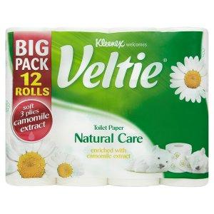Kleenex Veltie Toaletní papír s vůní heřmánku 3 vrstvy 12 rolí