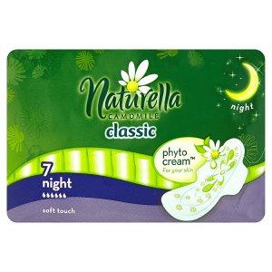 Naturella Camomile Classic night hygienické vložky s jemnou vůní 7 ks