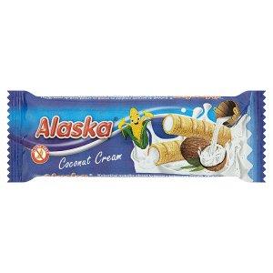 Alaska Kukuřičné trubičky plněné krémem s kokosovou příchutí 18g