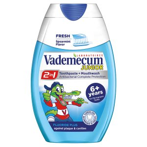 Vademecum 2v1 Junior Spearmint Zubní pasta 75ml