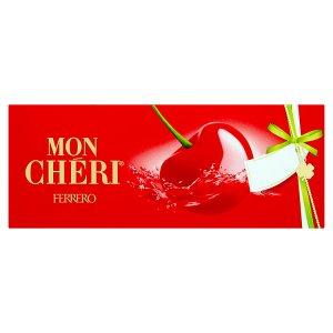 Ferrero Mon Chéri Čokoládové bonbony formované s likérovou náplní a celou třešní 105g