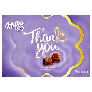 Milka Thank you bonbony z mléčné čokolády z alpského mléka s kakaovou náplní 120g