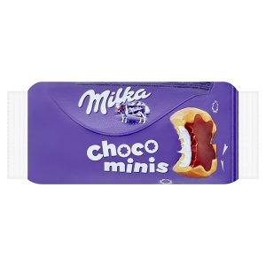 Milka Choco minis sušenky s mléčnou náplní polomáčené mléčnou čokoládou z alpského mléka 37,5g