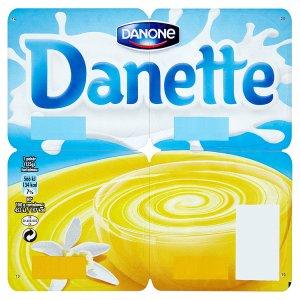 Danone Danette Mléčný dezert s vanilkovou příchutí 4 x 125g