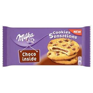 Milka Cookie sensation sušenky s kousky mléčné čokolády z alpského mléka 156g