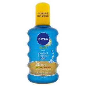 Nivea Sun Protect & Refresh Neviditelný sprej na opalování OF 30 200ml
