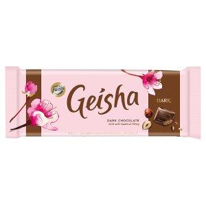 Fazer Geisha Hořká čokoláda s náplní z lískových oříšků a nugátu 100g