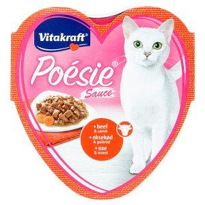 Vitakraft Poésie Sauce + hovězí & mrkev v omáčce 85g