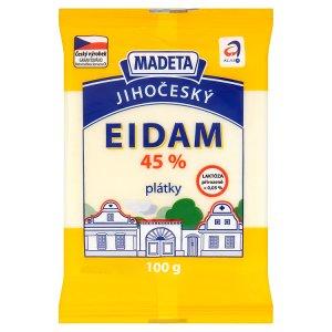 Madeta Jihočeský eidam 45% plátky 100g