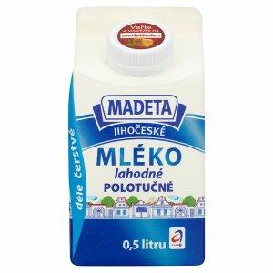 Madeta Jihočeské mléko lahodné polotučné 1,5% 0,5l