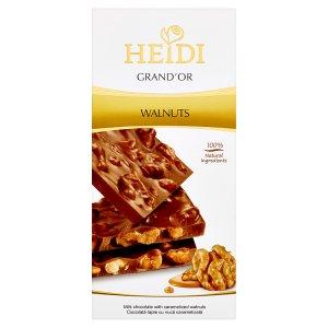Heidi Grand'Or Mléčná čokoláda s karamelizovanými vlašskými ořechy 100g