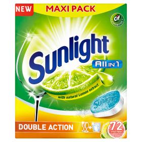 Sunlight Tablety do myčky nádobí 72 ks