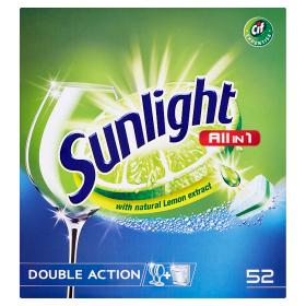 Sunlight Tablety do myčky nádobí 52 ks, vybrané druhy