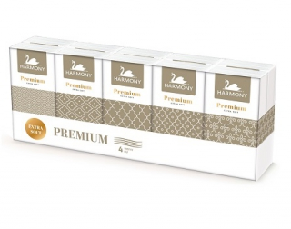 Harmony papírové kapesníčky, 10×10 ks, 4-vrstvé