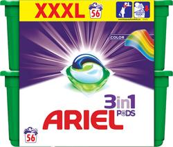Ariel gelové kapsle 56 dávek, vybrané druhy
