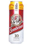 Gambrinus Originál 10 pivo výčepní světlé 0,55l plech