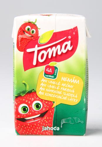 Toma Jahoda ovocný nápoj s příchutí