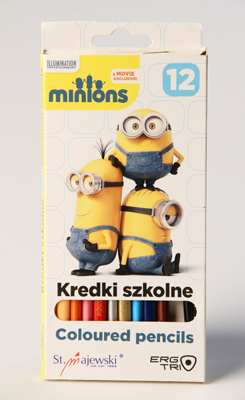 Pastelky Minions Kredki szkolne, 12 kusů