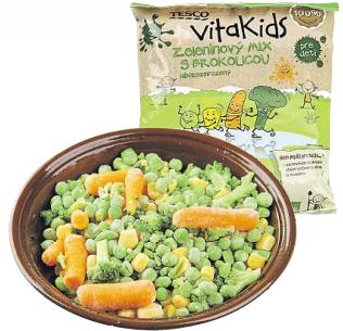 Tesco VitaKids mix s brokolicí