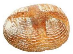 Kulatý chléb kváskový 1kg